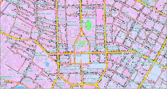 点城市详细地图